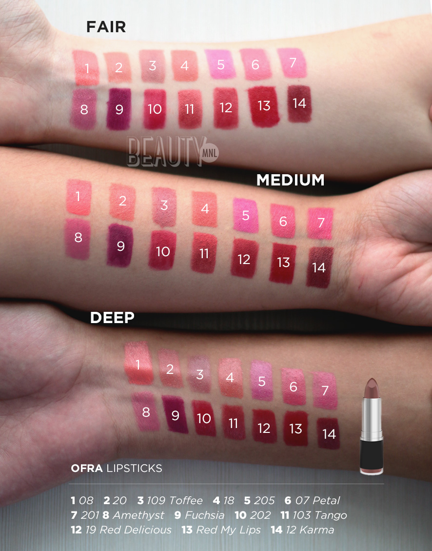 We Swatched Ofra's Signature Semi-Matte Lipsticks | Bloom