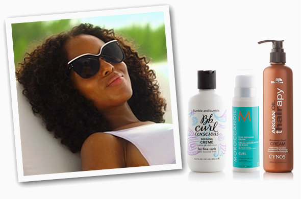 GET THE LOOK: Bumble and Bumble Curl Conscious Defining Creme, Moroccanoil Curl Defining Cream, Cynos Argan Oil Bouncy Curl Cream. Screencap: ABC.