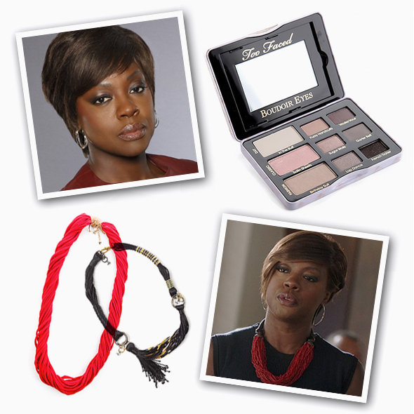 GET THE LOOK: Too Faced Boudoir Eyes Soft & Sexy Shadow Collection, Timi Red Scarf Neckpiece, JÔ Joyce Oreña Transformers Necklace in Black Out II. Promotional images: ABC