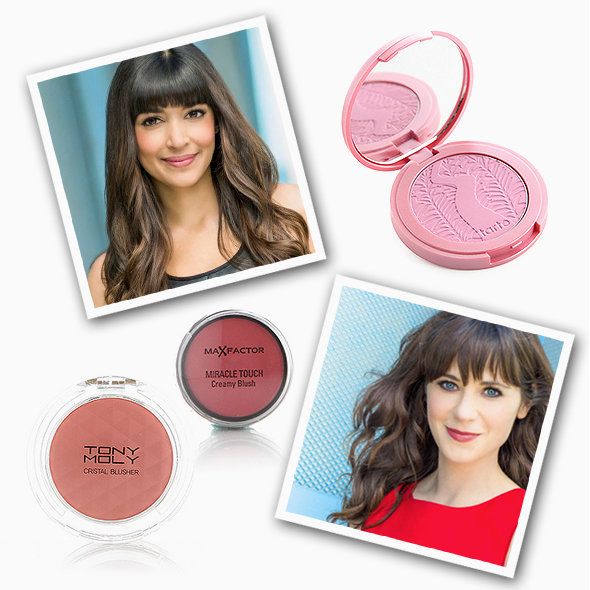 GET THE LOOK: Tony Moly Crystal Blusher in 03 Pleasure Peach, Max Factor Miracle Touch Creamy Blush in Soft Pink, Tarte Amazonian Clay in Muted Strawberry Red. Promotional images: Fox.