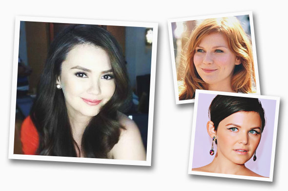Photos: Angelica Panganiban (@iamangelicap, Instagram), Kirsten Dunst (Columbia Pictures), Ginnifer Goodwin (ABC)