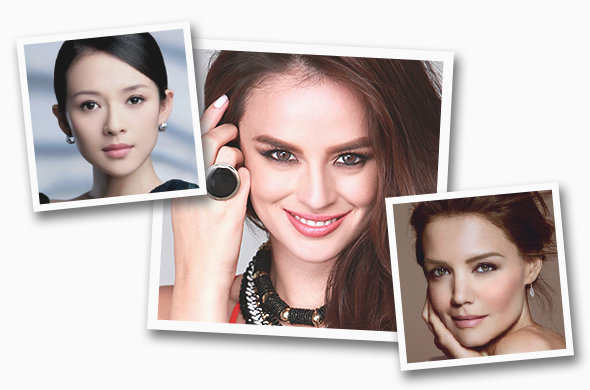 Photos: Zhang Ziyi (Maybelline), Georgina Wilson (SM Accessories), Katie Holmes (Bobbi Brown)