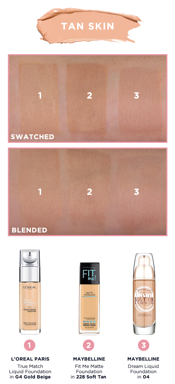 Shade For L'oreal Swatches ParisMaybelline MatcherFoundation bvIYfy7g6