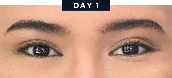 This brow tint lasts for 3 whole days beautymnl for Tattoo brow gel