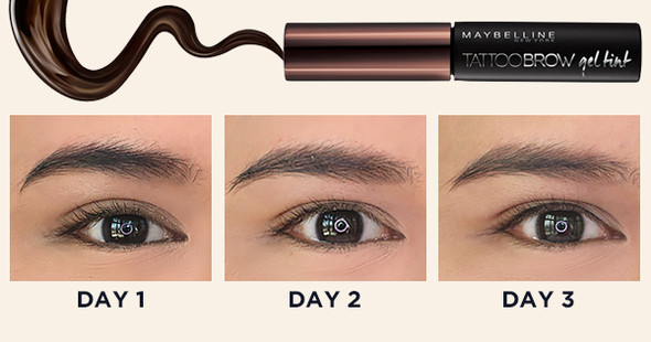 This brow tint lasts for 3 whole days beautymnl for Maybeline tattoo brow