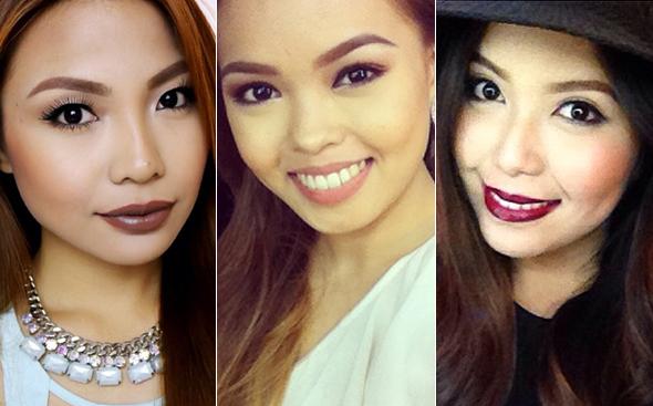 PRETTY PUCKERS (L-R): Youtube beauty gurus Michelle Dy, Ana Victorino, and  Say Artillero