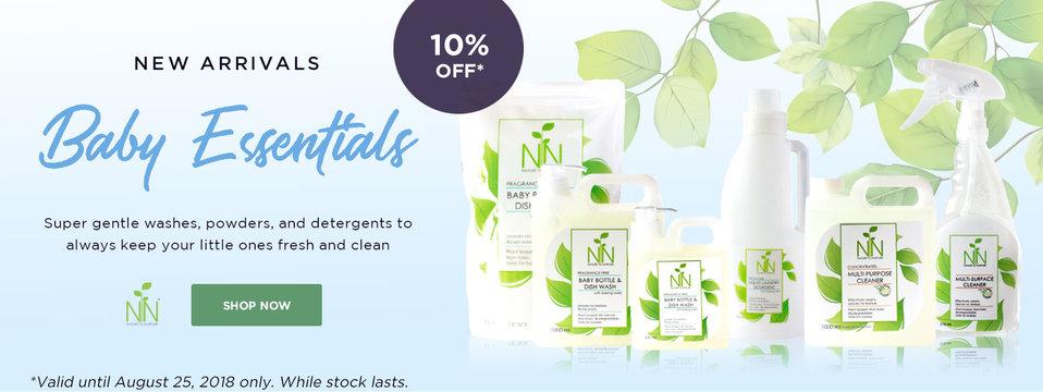 10% OFF Baby Essentials: Nature To Nurture