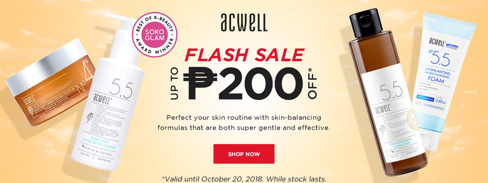 Up To P200 OFF: Acwell