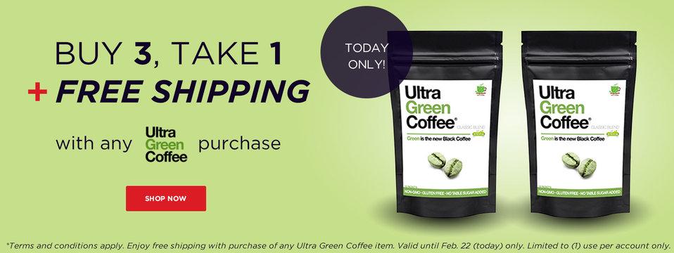 Free Shipping + B3T1: Ultra Green Coffee