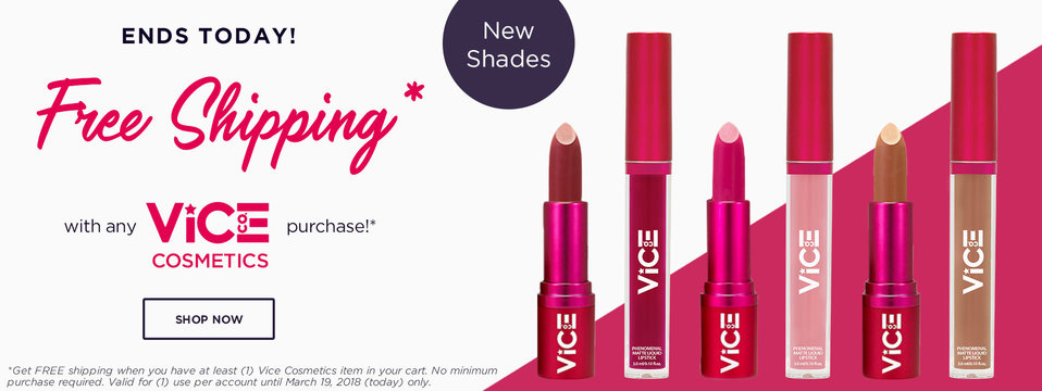 Free Shipping: Vice Cosmetics