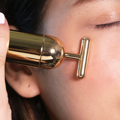 This 24K Gold Facial Tool Can Help You Fake a Full Night's Sleep