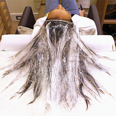 A First-Timer's Experience with the Fluid Painting Hair Trend