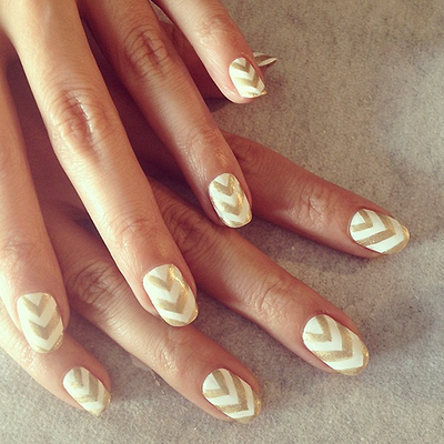Holiday Nail Art: The Chevron Manicure