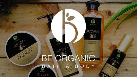 Banner  be organic bath body