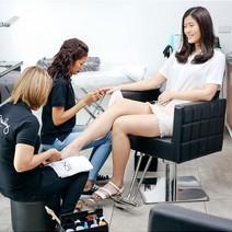 Gel Manicure and Pedicure + Back Chair Massage by Jesi Mendez  Salon