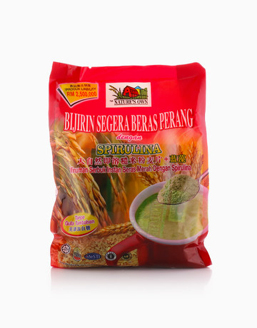 Instant Brown Rice Cereal with Spirulina (No Added Sugar) by Nature's Own