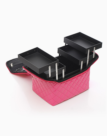 Pink Quilted Vanity Case by Suesh