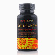 Vitamins D3 + K2 MK-7 by Herbs of the Earth