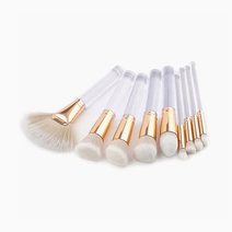 Brushwork 10 pieces makeup brush set  clear acrylic