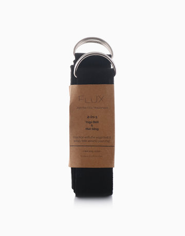 Black 2-in-1 Yoga Strap by Flux Movement