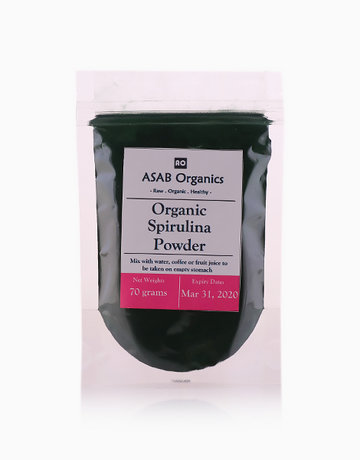 Spirulina Powder (Raw) (70g) by ASAB Organics