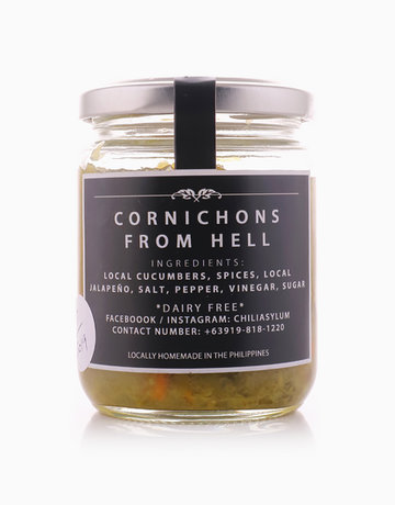 Cornichons From Hell (Hot Pickle Relish) by Chili Asylum