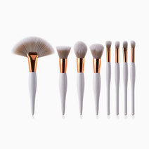 8pc White On Point Brush Set by Brush Works