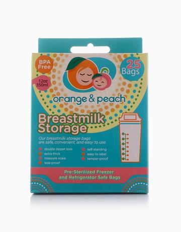 Breastmilk Storage Bags by Orange and Peach