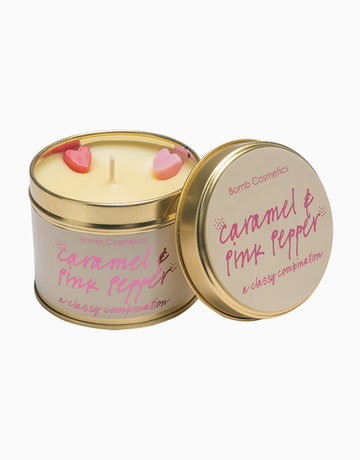 Caramel & Pink Pepper Candle by Bomb Cosmetics