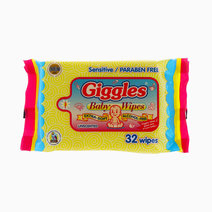 Unscented Baby Wipes (32 Wipes) by Giggles