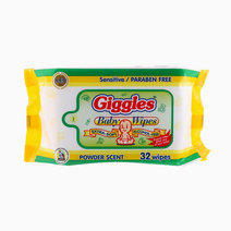 Baby Wipes Powder Scent (32 Wipes) by Giggles in