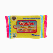 Unscented Baby Wipes (70 Wipes) by Giggles in