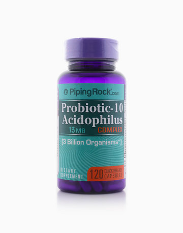 Probiotic-10 Complex 3 Billion Organisms (120 Capsules) by Piping Rock