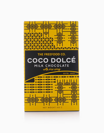 Milk Chocolate With Rice Crisps (100g) by Coco Dolcé