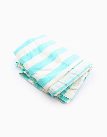 Mint & White Sarong Towel by Basi Tropical Towels