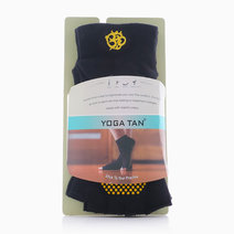 Open Toe Yoga Tan Socks by Feet and Right in Black
