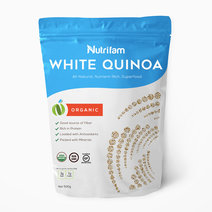 Organic White Quinoa (500g) by Nutrifam in