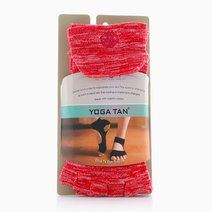 Mary Jane Open Toe Yoga Tan Socks by Feet and Right