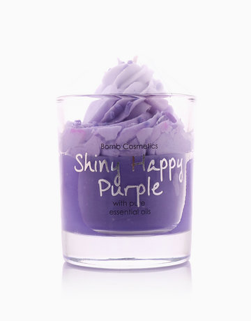 Shiny Happy Purple Piped Candle by Bomb Cosmetics
