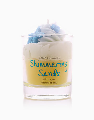 Shimmering Sands Piped Candle by Bomb Cosmetics
