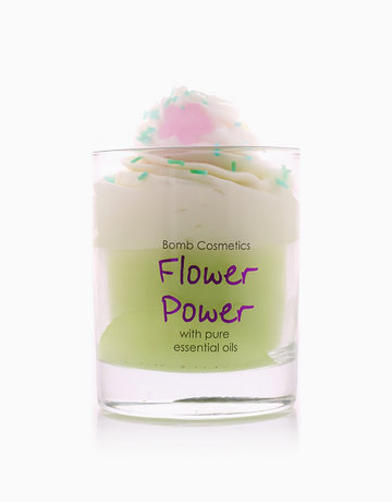 Flower Power Piped Candle by Bomb Cosmetics