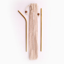 Deluxe Almost Forever Straw Set by Gubby and Hammy in Gold