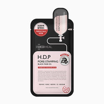 Mediheal h.d.p pore stamping tightening charcoal mask ex 25ml