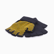 Yoga Gloves by Feet and Right in Black with Yellow Dots