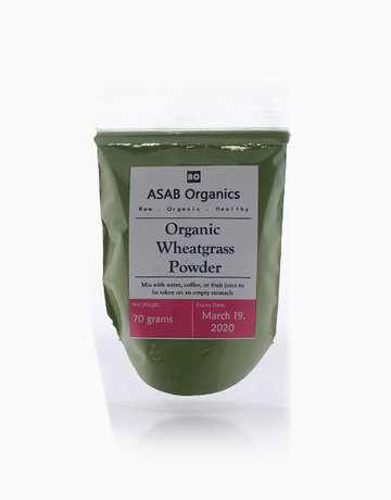 Raw Organic Wheatgrass Powder (70g) by ASAB Organics