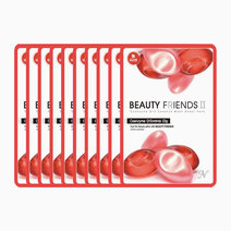 Coenzyme Q10 Mask Sheet Pack (10 Pcs.) by BEAUTYFRIENDS II