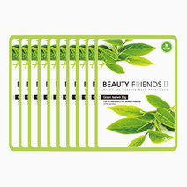 Green Tea Mask Sheet Pack (10 Pcs.) by BEAUTYFRIENDS II