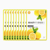 Lemon Mask Sheet Pack (10 Pcs.) by BEAUTYFRIENDS II