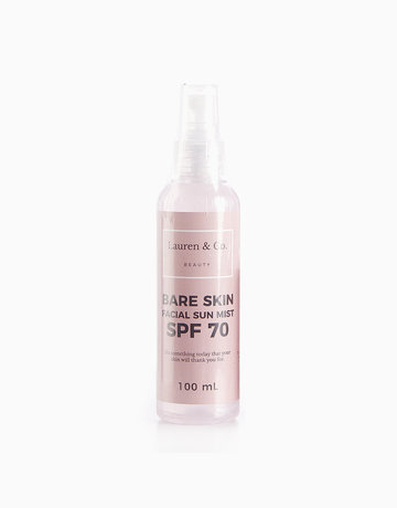 Bare Skin Facial Sun Mist with SPF 70 (100ml) by Lauren & Co Beauty