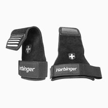 Harbinger lifting grips in black